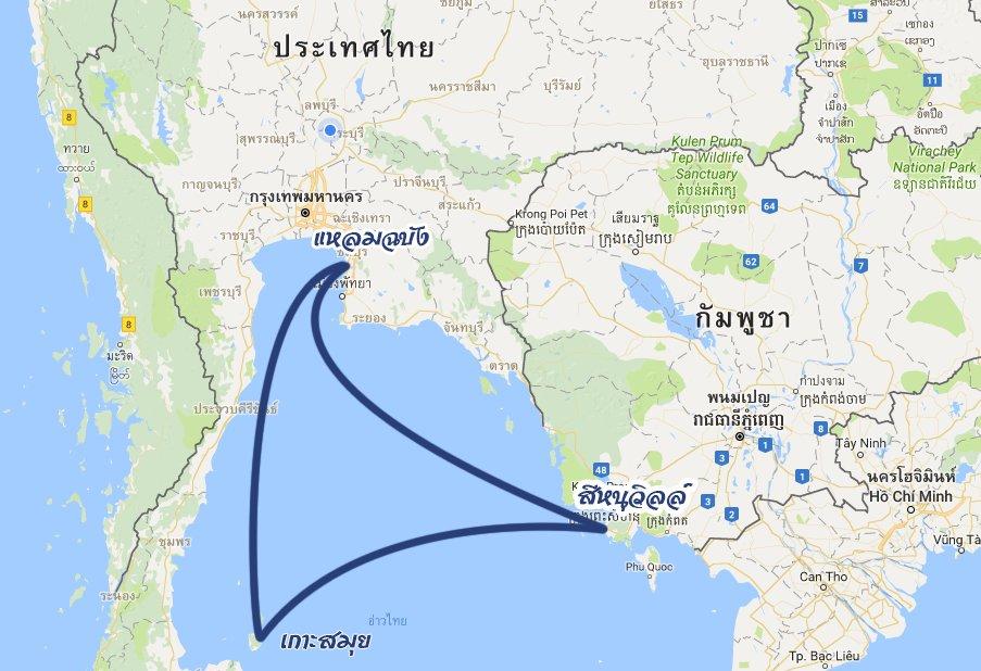 แผนที่เส้นทาง4วัน3คืน อาทิตย์-พุธ
