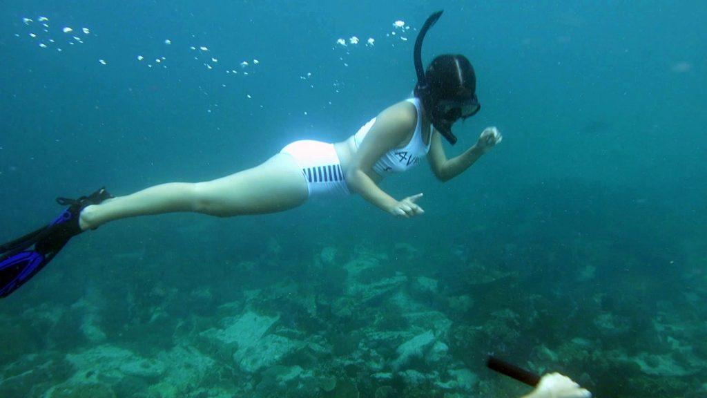 ดำน้ำตื่นที่ เกาะนาวโอพี Nyaungoophee Island